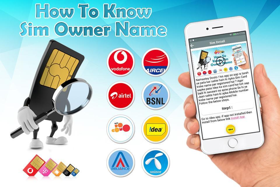 How to Know SIM Owner Name ? for Android - APK Download