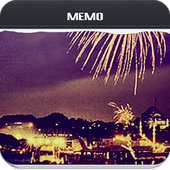 Bright Fireworks Memo icon
