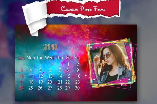 New Year Calendar Photo Frame 2018 poster