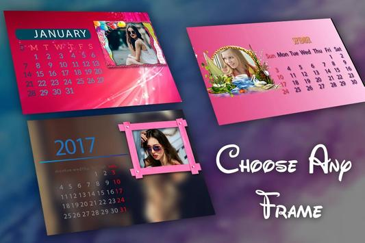New Year Calendar Photo Frame 2018 screenshot 2