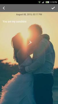 Sunset Wedding Memo poster