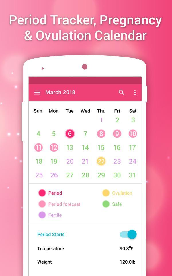 Menstrual Cycle Calendar.Period Calendar Menstrual Cycle Tracker For Android Apk Download