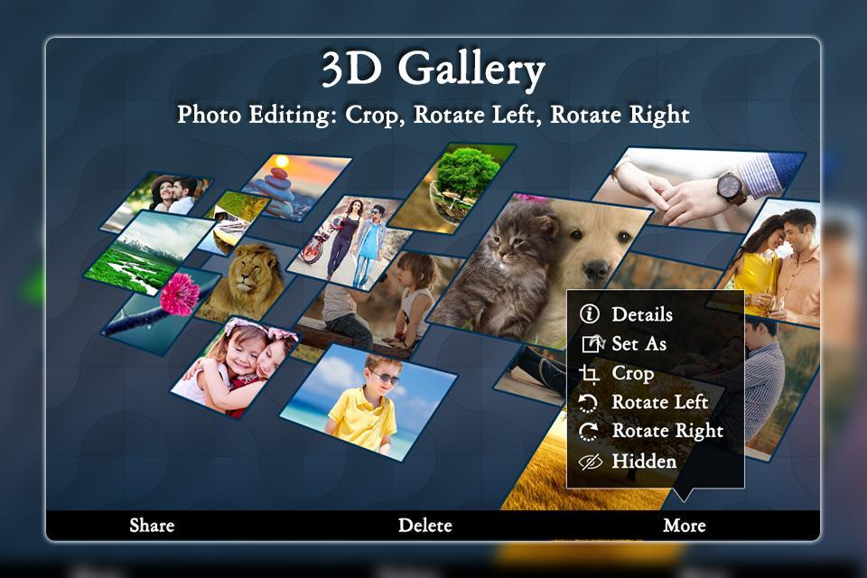 3D Gallery: Photo Video Gallery for Android - APK Download