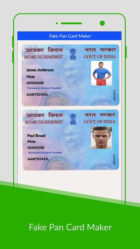 Pan card maker prank apk download free entertainment app for android apkpurecom for Fake certificates maker