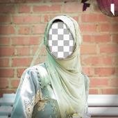 Hijab photo frames icon
