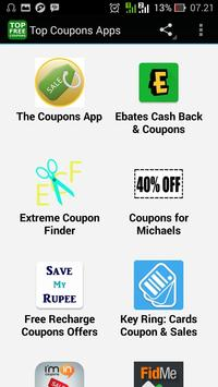 Top Coupons Apps poster