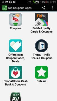 Top Coupons Apps apk screenshot