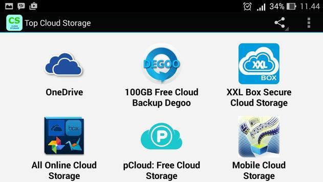 Top Cloud Storage Apps apk screenshot
