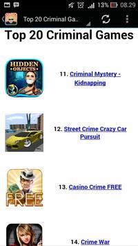 Top Criminal Games apk screenshot