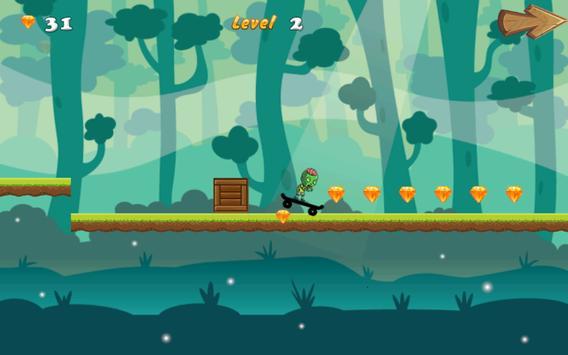 Free Games Zombie Skater Run apk screenshot
