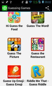 Top Guessing Games apk screenshot