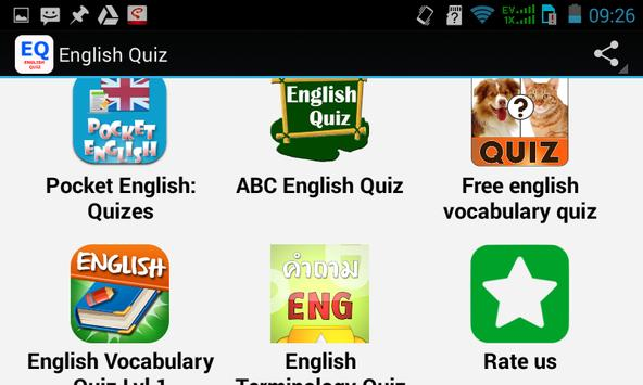 Top English Quiz apk screenshot