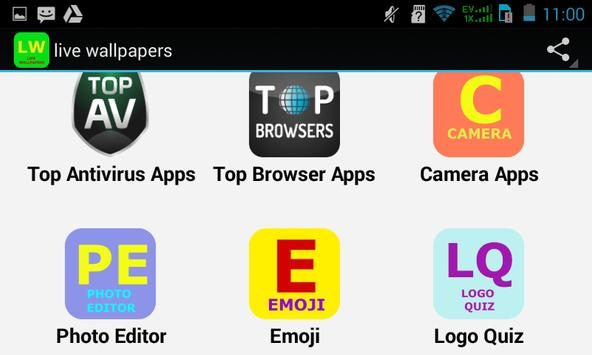 Top Live Wallpapers Apps apk screenshot