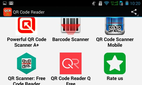 Top QR Code Reader Apps apk screenshot