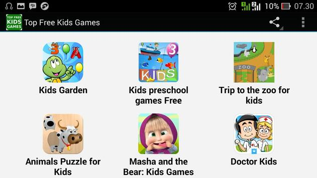 Top Free Kids Games apk screenshot