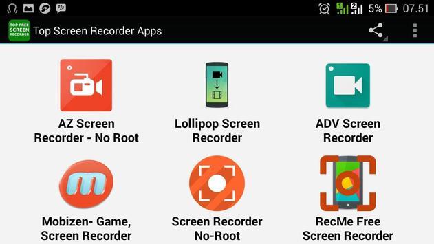 Top Screen Recorder Apps apk screenshot