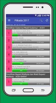 Real Count Pilkada 2017 apk screenshot