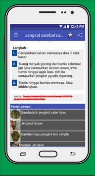 Resep Masakan Berbahan Jengkol apk screenshot