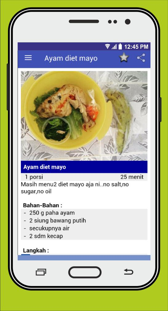 Resep Masakan Diet Mayo For Android Apk Download