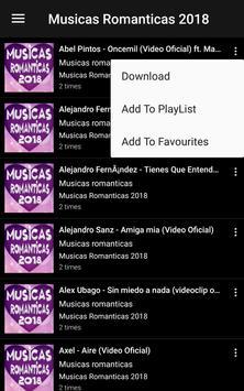 Top Musicas Romanticas 2018 screenshot 1