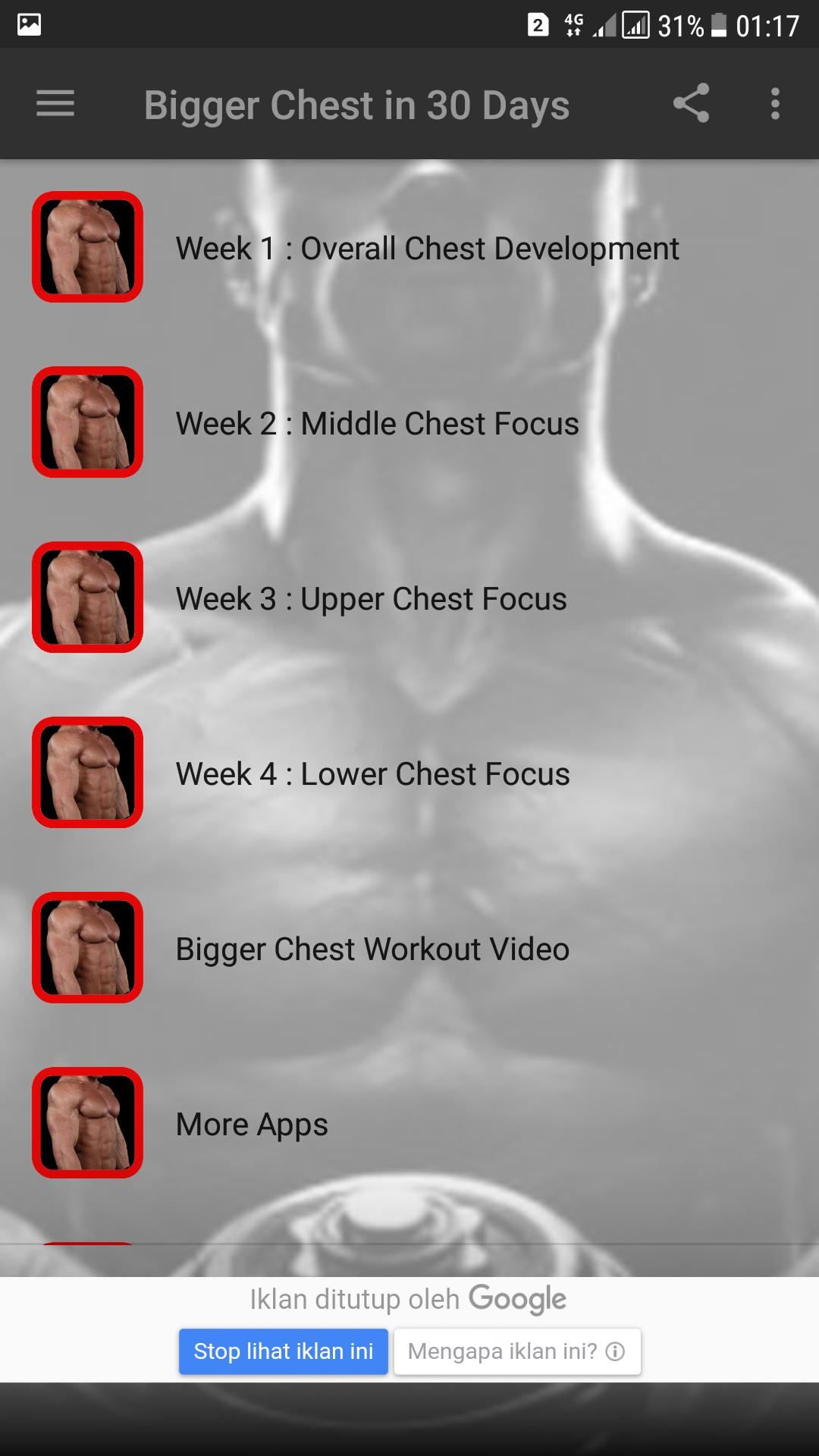 Bigger Chest in 30 Days for Android - APK Download