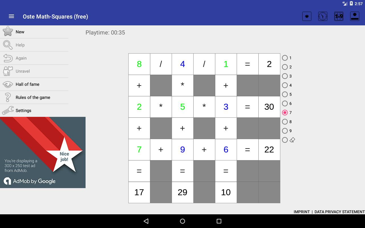Oste Math-Squares (free) APK Download - Free Educational GAME for ...