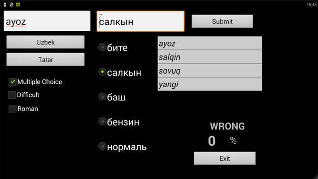Tatar Uzbek Dictionary apk screenshot