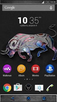 Zodiac Theme - Taurus screenshot 1