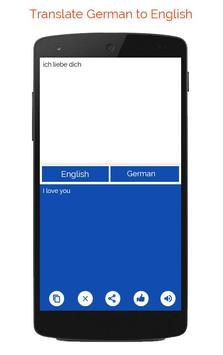 German English Translator apk screenshot