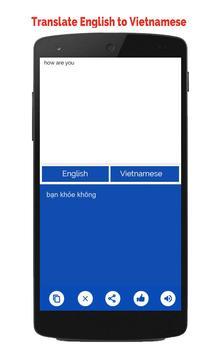 Vietnamese English Translator apk screenshot