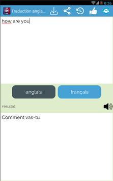 English - French translator apk screenshot