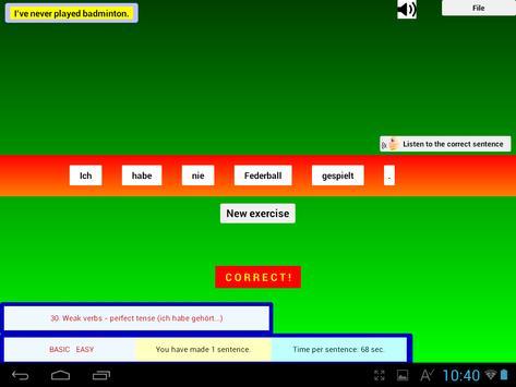 Talk German Grammar F screenshot 9