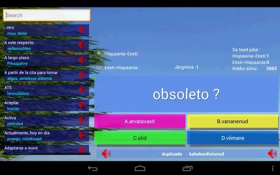 Estonian Spanish Trainer 2600w screenshot 4
