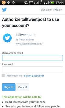 TallTweetPost screenshot 1