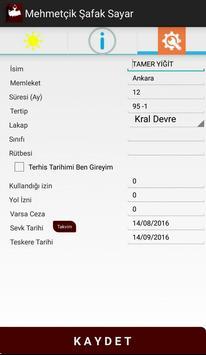 Mehmetçik Şafak Sayar apk screenshot