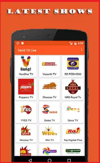 Tamil TV-Movies,Live TV,Serials,News HD Free-Guide for Android - APK