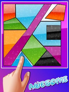 Curved King Tangram : Shape Puzzle Master Game screenshot 1