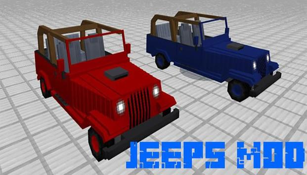 Jeeps mod for minecraft poster