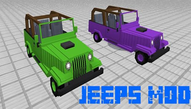 Jeeps mod for minecraft screenshot 1