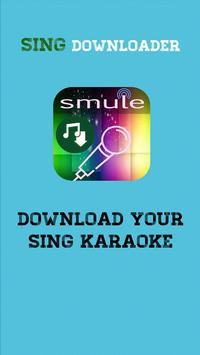 Sing Downloader for Smule Plakat