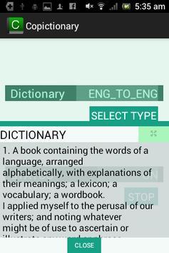 Copictionary - Copy Dictionary poster