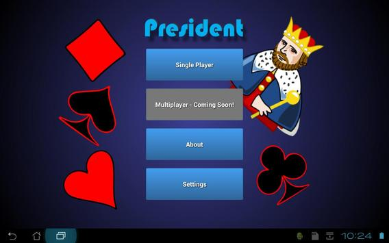 President Card Game apk screenshot