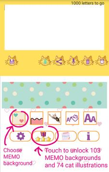 Cat Sticky Memo Notepad Lite screenshot 7