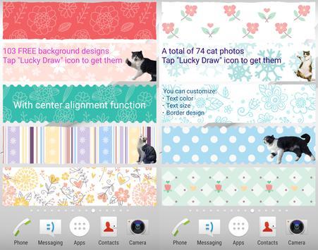 Cat Sticky Memo Notepad Lite screenshot 9