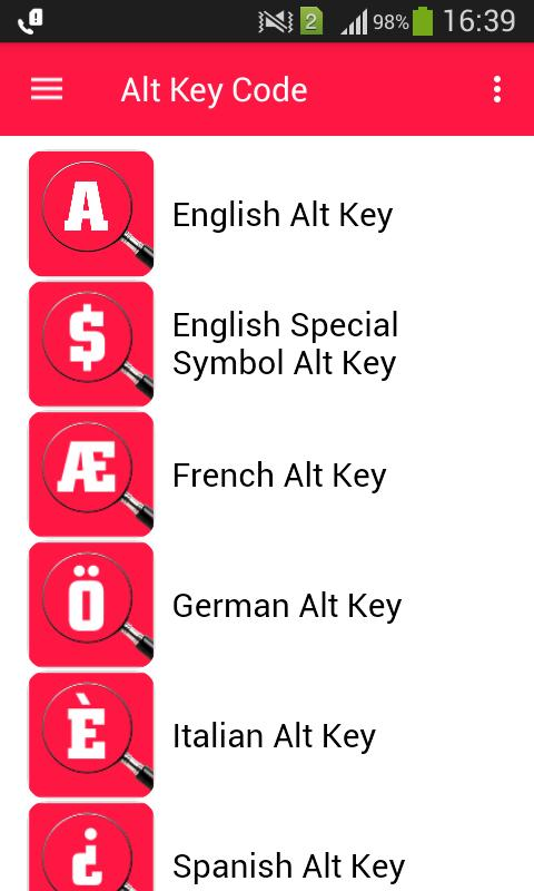 Alt Key Code for Android - APK Download
