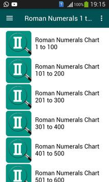 Roman Numerals 1 to 1000 screenshot 1