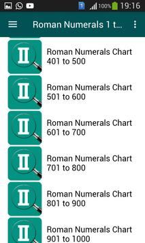 Roman Numerals 1 to 1000 screenshot 2