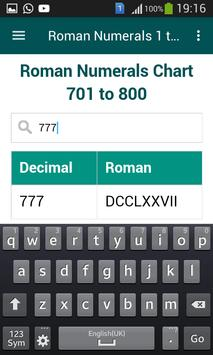 Roman Numerals 1 to 1000 screenshot 5