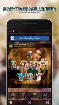 Text Photo Collage Maker with Photo Effect Editor poster