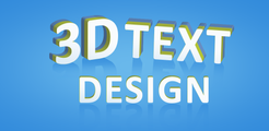 3D Text On Pictures - Logo & Name Art